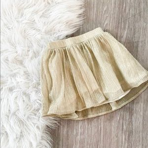 Baby Gap Metallic Gold Skirt